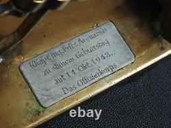 WW2 German KRIEGSMARINE battleship SCHARNHORST commemorative metal press 1942