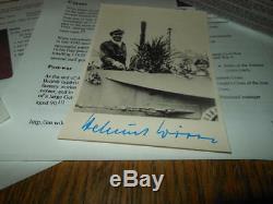 WW2 German Kriegsmarine Autographed Photo and Docs HELMUT WITTE NICE