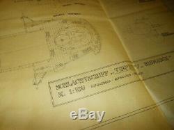 WW2 German Kriegsmarine BISMARCK MAIN BRIDGE CONSTRUCTION BLUEPRINT RARE