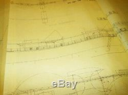 WW2 German Kriegsmarine BISMARCK RAILING CONSTRUCTION BLUEPRINT RARE
