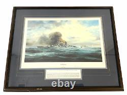 WW2 German Kriegsmarine Bismarck Framed Print 28 x 24 Inches