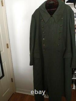 WW2 German Kriegsmarine Coastal Artillery Greatcoat Overcoat
