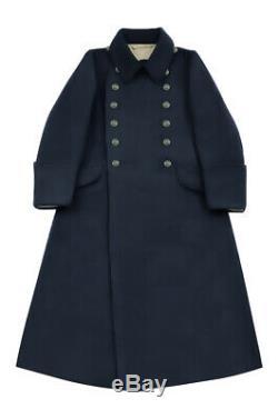 WW2 German Kriegsmarine EM Navyblue wool Greatcoat XL