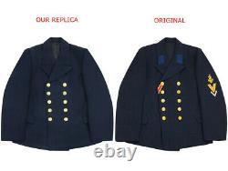 WW2 German Kriegsmarine EM navy blue wool PEA tunic jacket