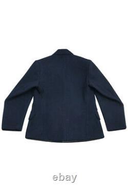 WW2 German Kriegsmarine EM navy blue wool PEA tunic jacket M