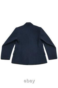 WW2 German Kriegsmarine EM navy blue wool PEA tunic jacket XL
