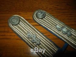 WW2 German Kriegsmarine LEUTNANT MEDICAL SHOULDER BOARDS- Matching Set
