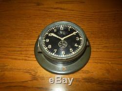 WW2 German Kriegsmarine Navy U-BOAT RADIO ROOM CLOCK #2 VERY RARE