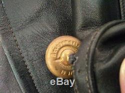 WW2 German Kriegsmarine Navy u-boat officers black leather coat 1943.44 chest