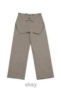 WW2 German Kriegsmarine Off-White HBT EM work trousers Klapphose