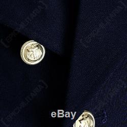 WW2 German Kriegsmarine Officer Frock Coat Reproduction Navy Blue Greatcoat