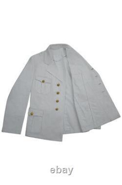 WW2 German Kriegsmarine Officer Summer white Jacket tunic XL
