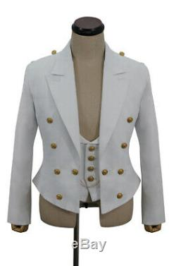 WW2 German Kriegsmarine Officers White Mess Dress and Vest XL
