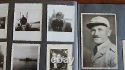 WW2 German Kriegsmarine Photo Album, Flak Barge, Genoa, Italian Aircraft Carrier