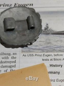 WW2 German Kriegsmarine Prinz Eugen German Officer Belt Buckle IX-300 USN