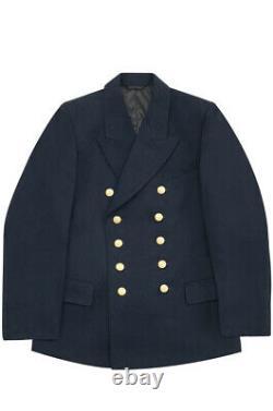 WW2 German Kriegsmarine officer navy blue Gabardine Reefer tunic jacket 3XL