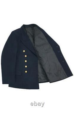 WW2 German Kriegsmarine officer navy blue Gabardine Reefer tunic jacket L