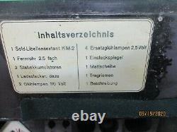 WW2 German KriegsmarineOriginal KM-2 SOLD Sextant/Octant withCaseC. Plath