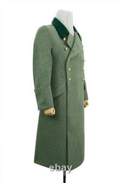 WW2 German M36 Kriegsmarine Coastal Officer Fieldgrey wool Greatcoat 3XL