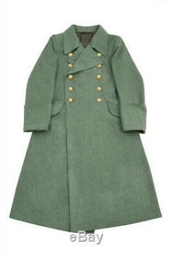 WW2 German M40 Kriegsmarine Coastal Officer Fieldgrey wool Greatcoat