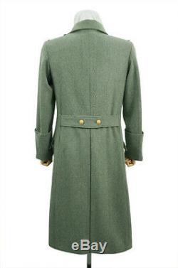WW2 German M40 Kriegsmarine Coastal Officer Fieldgrey wool Greatcoat L