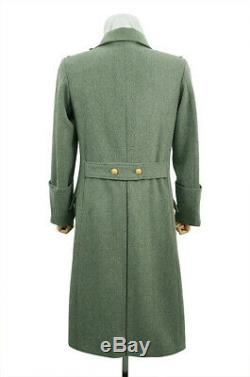 WW2 German M40 Kriegsmarine Coastal Officer Fieldgrey wool Greatcoat S