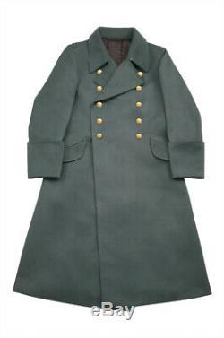 WW2 German M40 Kriegsmarine Coastal Officer Gabardine Greatcoat L