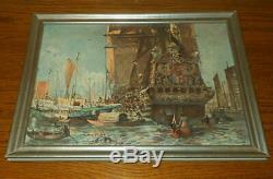 WW2 German Navy Kriegsmarine PRESENTATION ART PRINT PRINZ EUGEN RARE