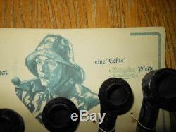 WW2 German Navy Kriegsmarine Smoking Pipes x6 & Card VERY RARE