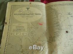 WW2 German Navy Kriegsmarine U Boot Nautical chart Mozambique Port Natal