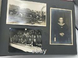 WW2 German Navy Photo Album Covering Men In Kaiserliche, Reichs & Kriegsmarine