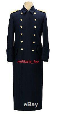 WW2 German Repro Kriegsmarine Admiral Navy Blue Wool Overcoat All Sizes