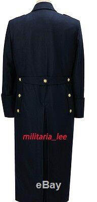 WW2 German Repro Kriegsmarine Officer Navy Blue Wool Overcoat All Sizes