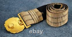WW2 German brocade dress belt kriegsmarine officer US military Vet Navy buckle