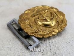 WW2 German war brocade dress belt buckle Kriegsmarine Officer WWI US Navy estate