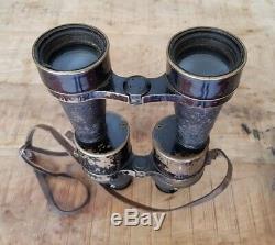 WW2 Huet Kriegsmarine D. F. 7x50 Artl. Binoculars & Case for German Marine RARE
