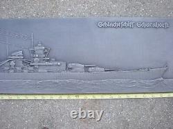 WW2 Kriegsmarine metal German battleship Scharnhorst large heavy 36 inches
