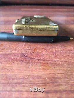 WW2 Solid Brass German Navy Cigarette Case Kriegsmarine