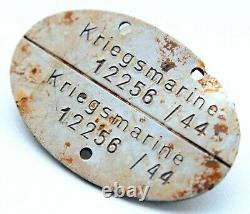 WW2 WWII Original German Navy Kriegsmarine Dog ID TAG (12256)