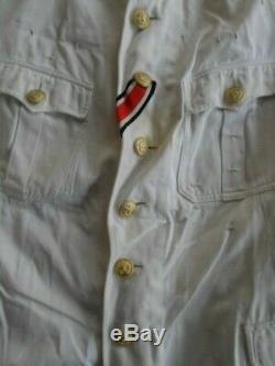 WW2 german kriegsmarine summer white officer tunic