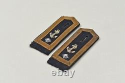 WWII GERMAN KRIEGSMARINE BOATSWAIN'S MATE 1st CLASS SHOULDER BOARDS MATCHED PA