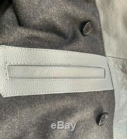 WWII German Grey Leather U-Boat Kriegsmarine uniform Jacket Coat New Extra Large
