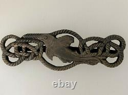 WWII German Kriegsmarine Navy Frogman Metal Combat badge award Kleinkampfmittel