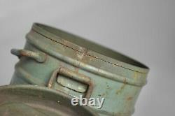 WWII German Kriegsmarine Sea Green Camo Coastal Artillery Gas Mask Canister 1944