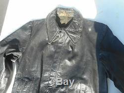WWII German Leather Kriegsmarine/Luftwaffe Flight suit Original Condition Rare