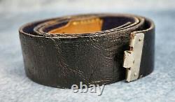 WWII German leather dress belt kriegsmarine officer US military Veteran estate