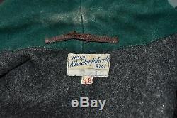 WWII KRIEGSMARINE German Navy Leather U-Boat Mechanics Deck Jacket EUR 46 UK 36