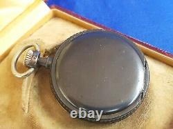 WWII-Longines Wehrmacht Pocket Watch-German Reich-Kriegsmarine-Erotic Woman Silk