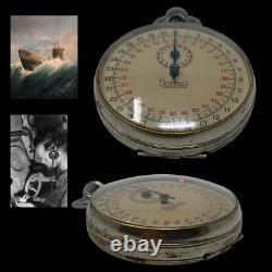WWII RARE German WWII Kriegsmarine U-boat Torpedo Timer Stop Watch by Hanhart