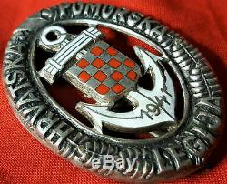 Ww2 Croatian Naval Legion Qualification Badge Medal German Kriegsmarine